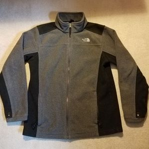 Kids North Face fleece zip front jacket